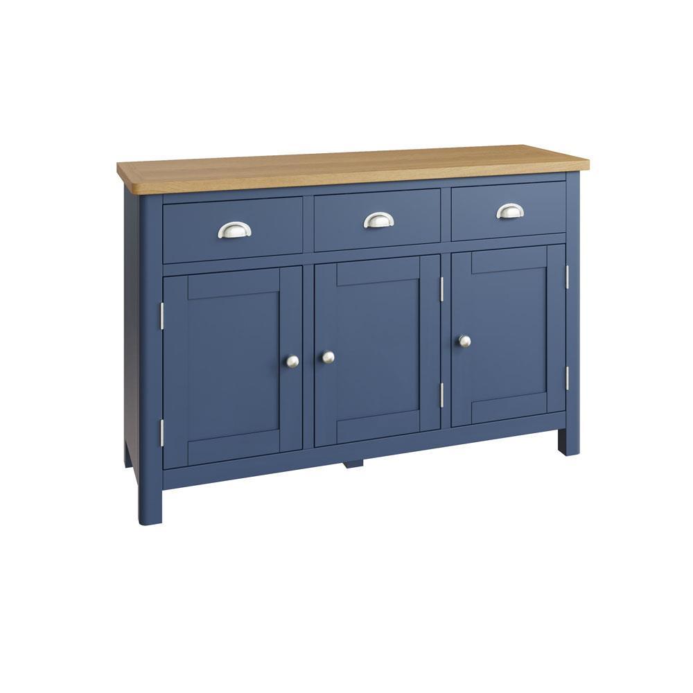 RAYWELL Painted 3 Door Sideboard (Blue)
