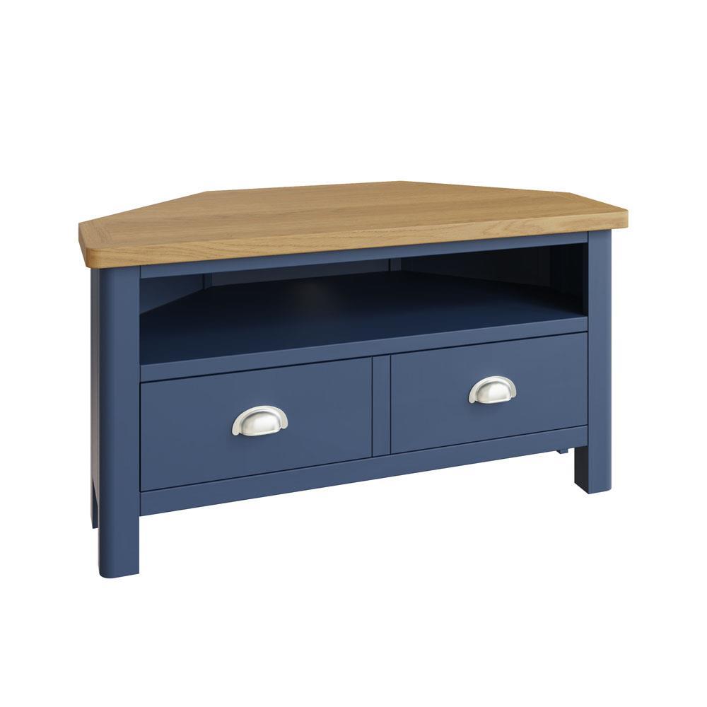 RAYWELL Painted Corner TV Unit (Blue)