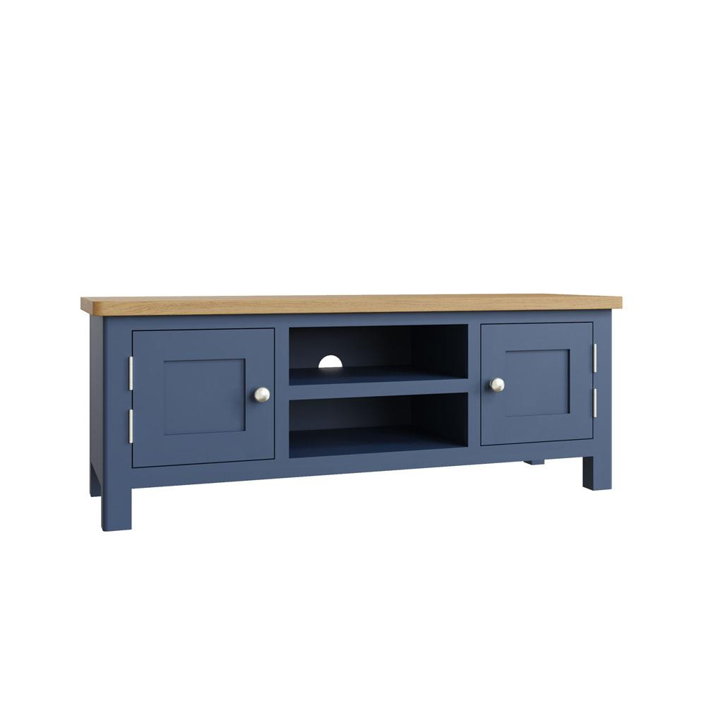 RAYWELL Painted Large TV Unit (Blue)