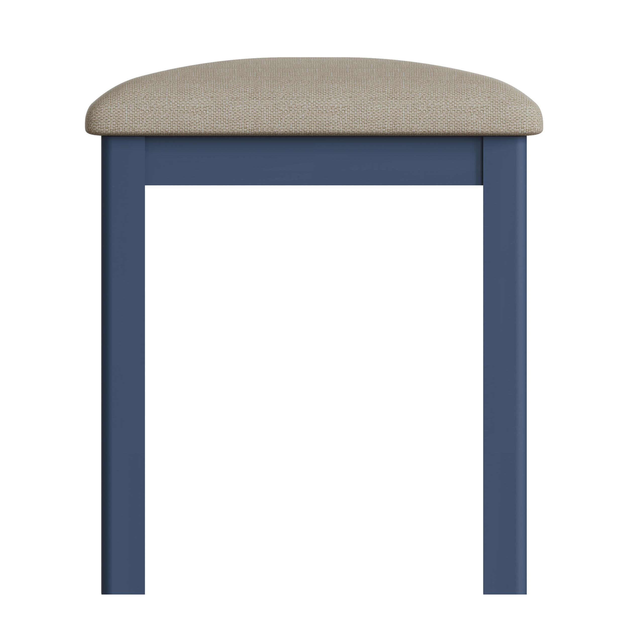 RAYWELL Painted Bedroom Stool (Blue)