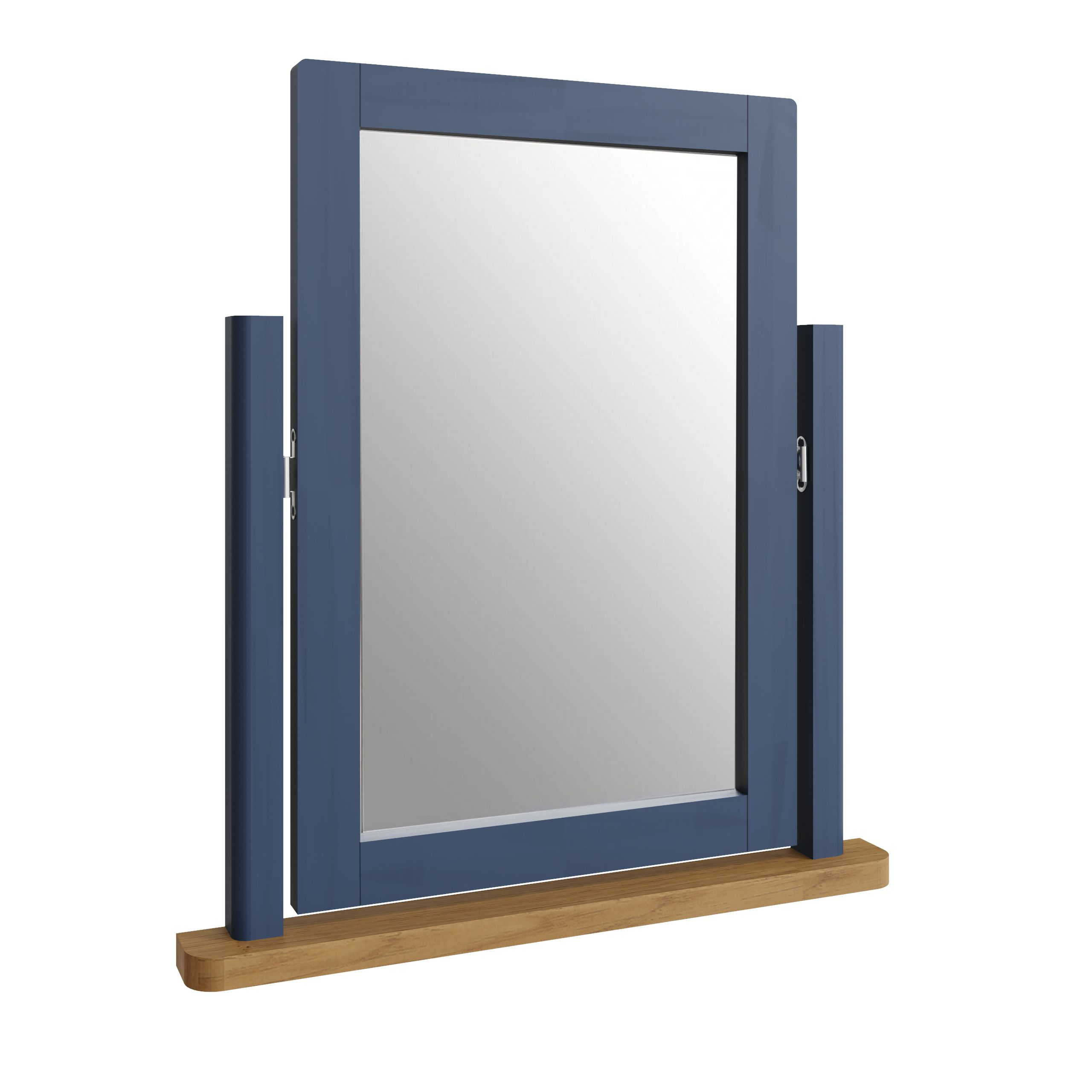 RAYWELL Painted Trinket Mirror (Blue)