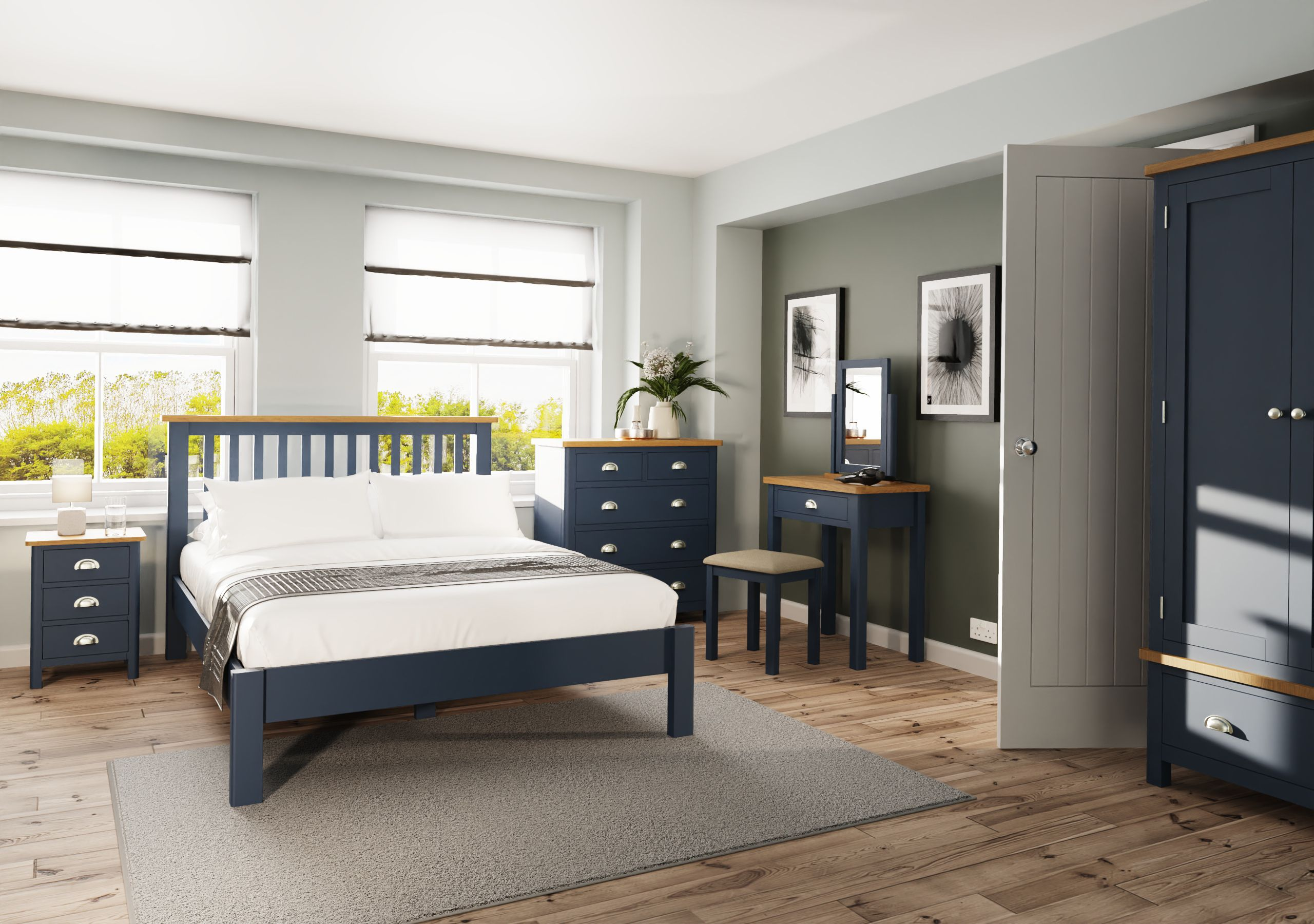 Kettle Interiors - RAYWELL BLUE PAINTED - Bedroom