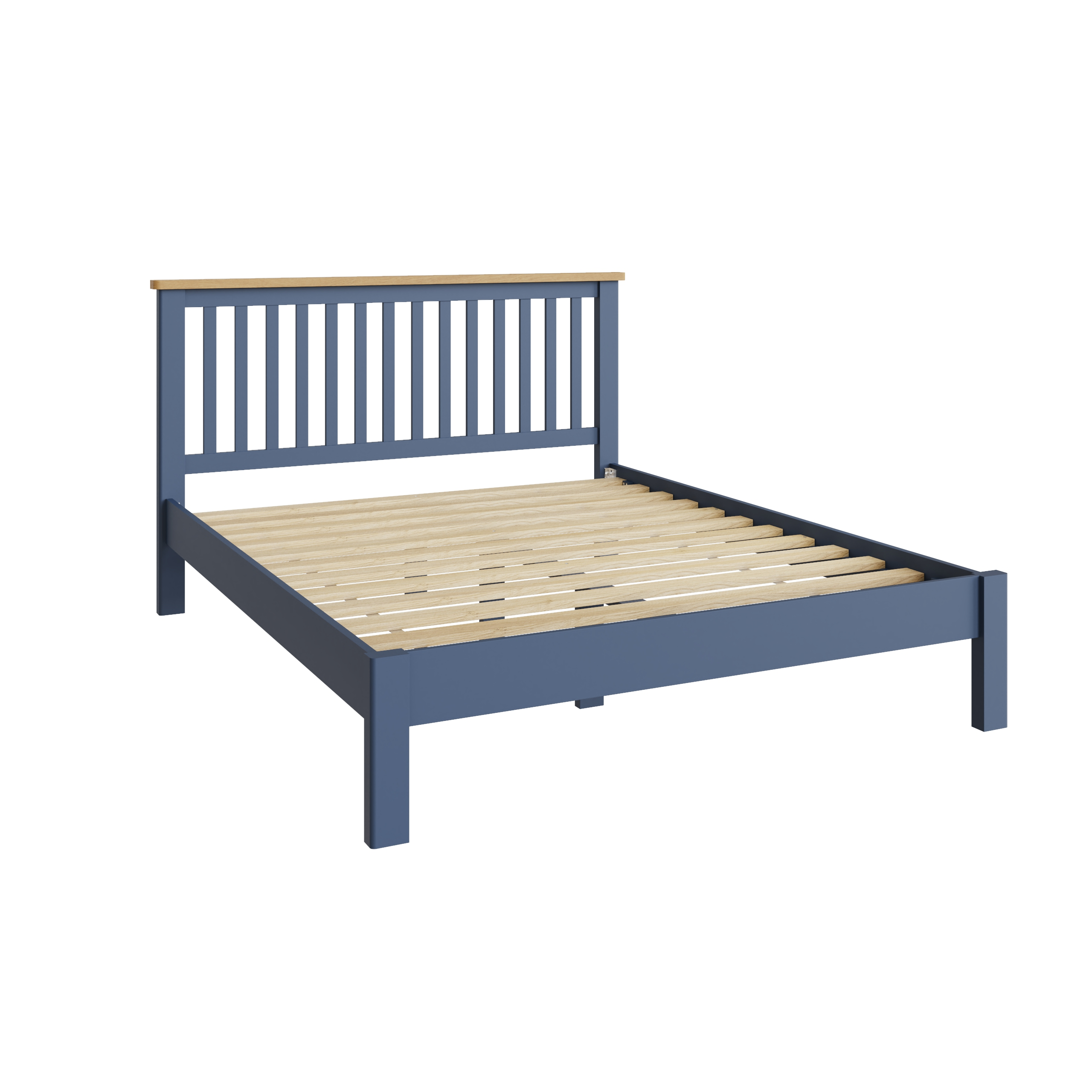 """RAYWELL Painted 5'0"""" Bed (BLUE)"""