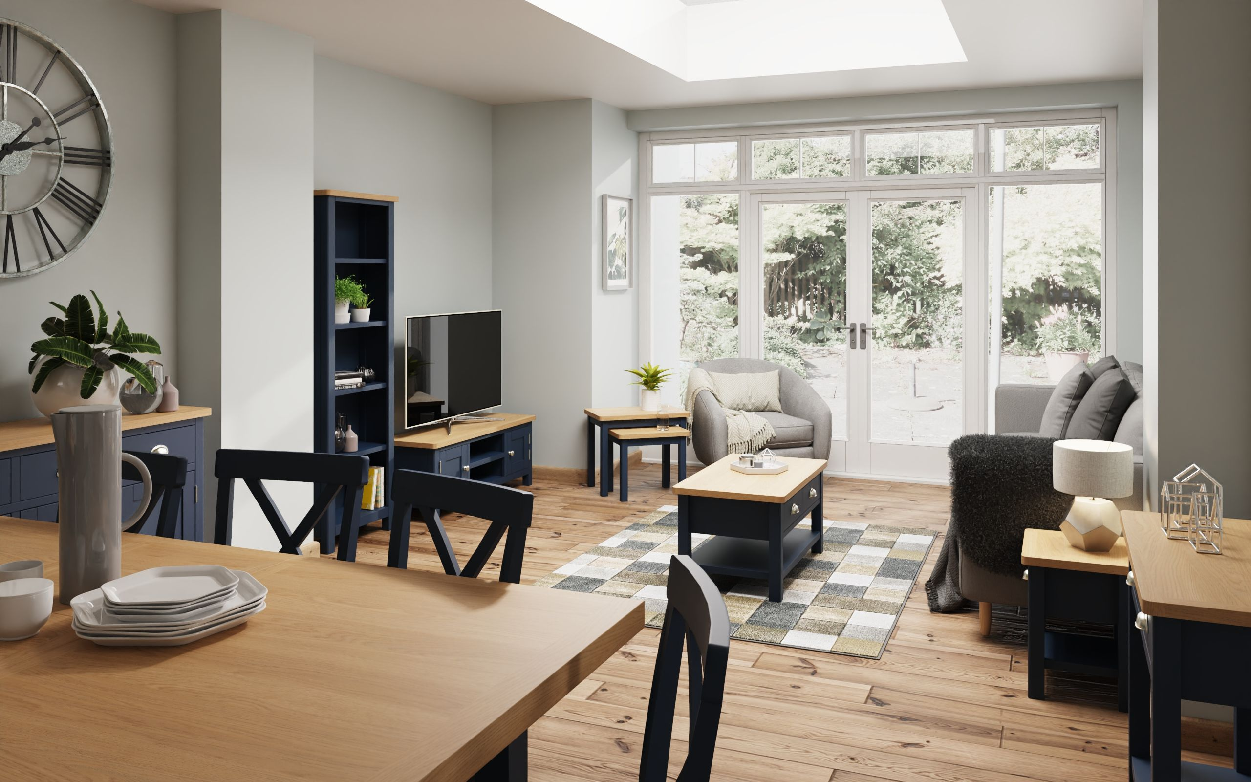 Kettle Interiors - RAYWELL BLUE PAINTED - Living & Dining