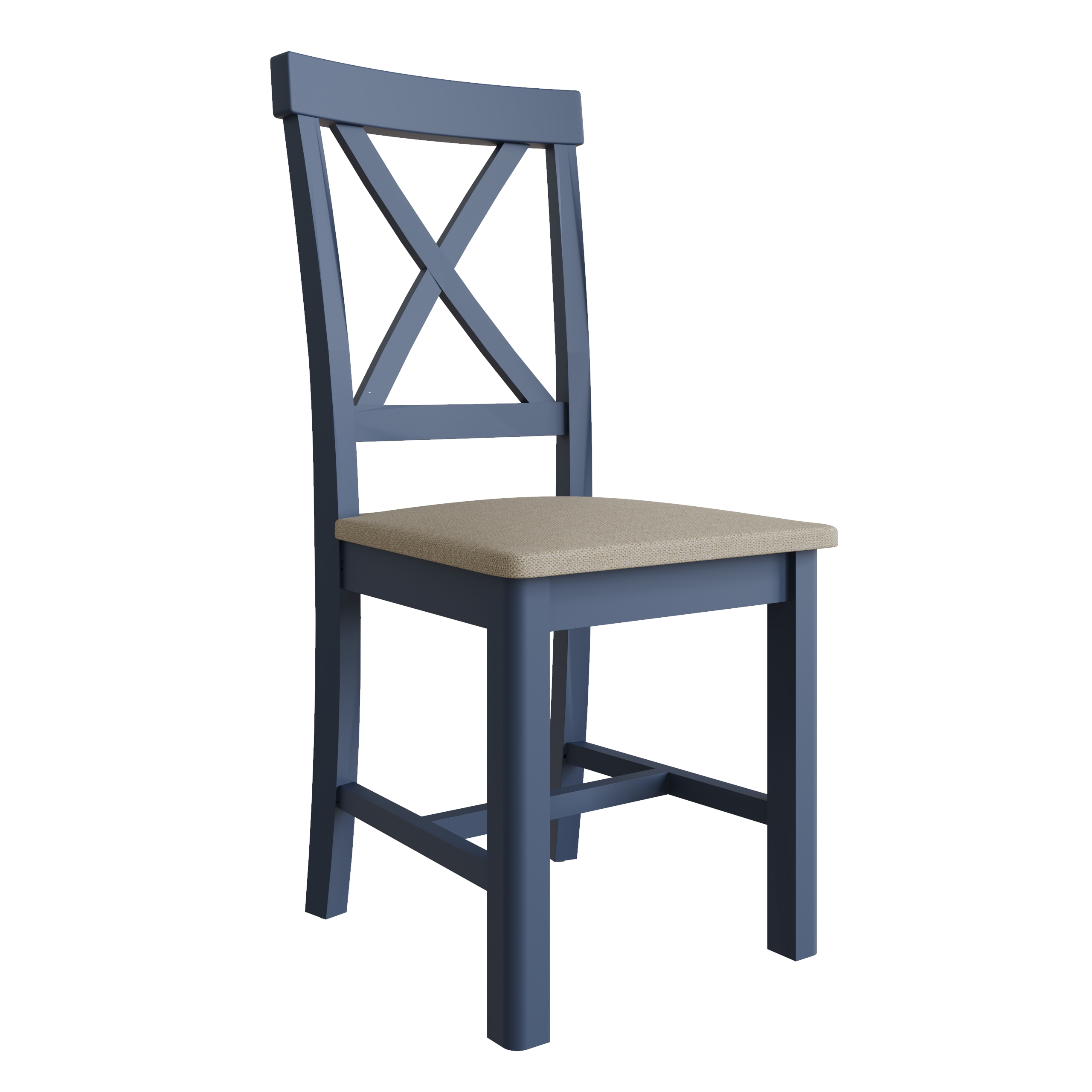 RAYWELL Painted Cross Back Chair (Blue)
