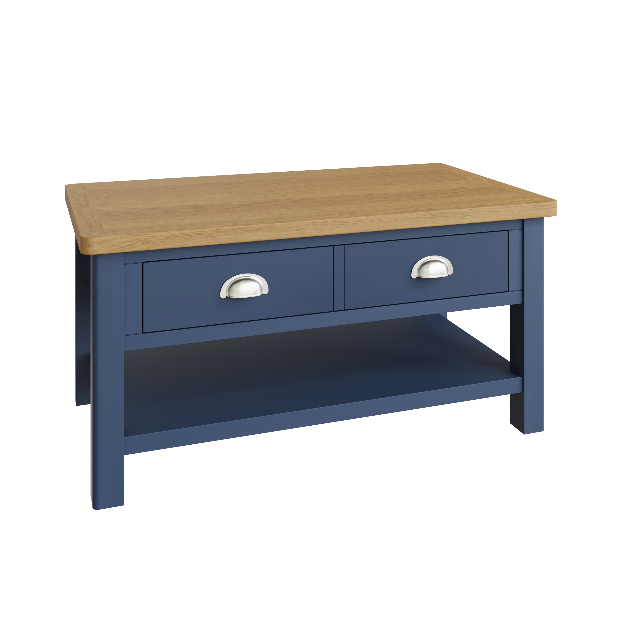 RAYWELL Painted Large Coffee Table (Blue)