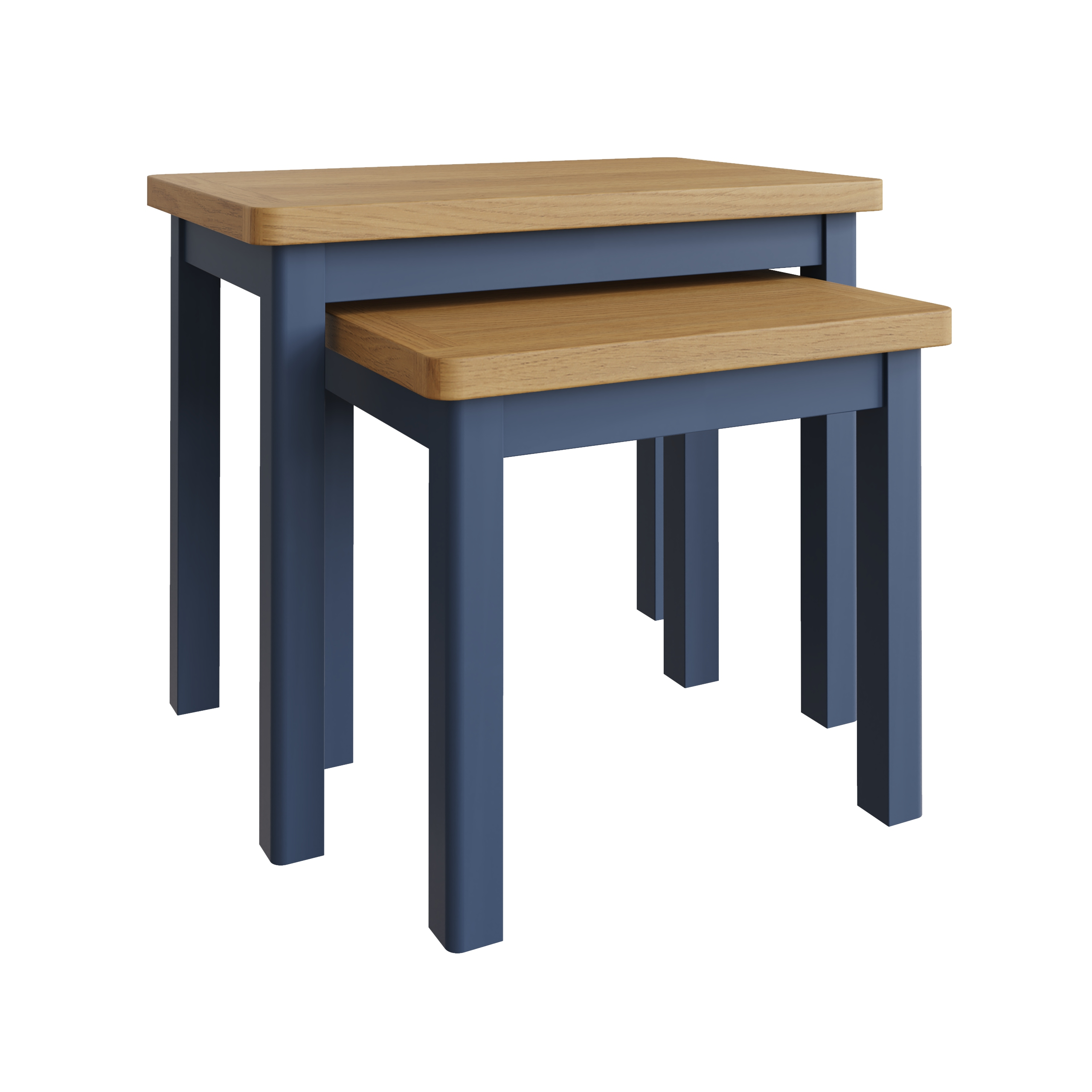 RAYWELL Painted Nest of 2 Tables (Blue)