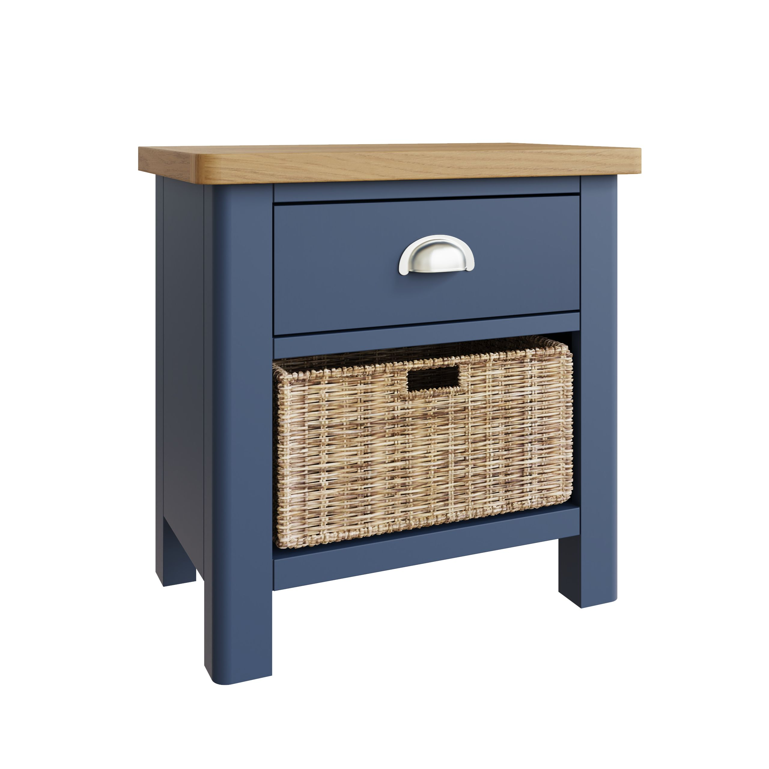 RAYWELL Painted 1 Drawer 1 Basket (Blue)