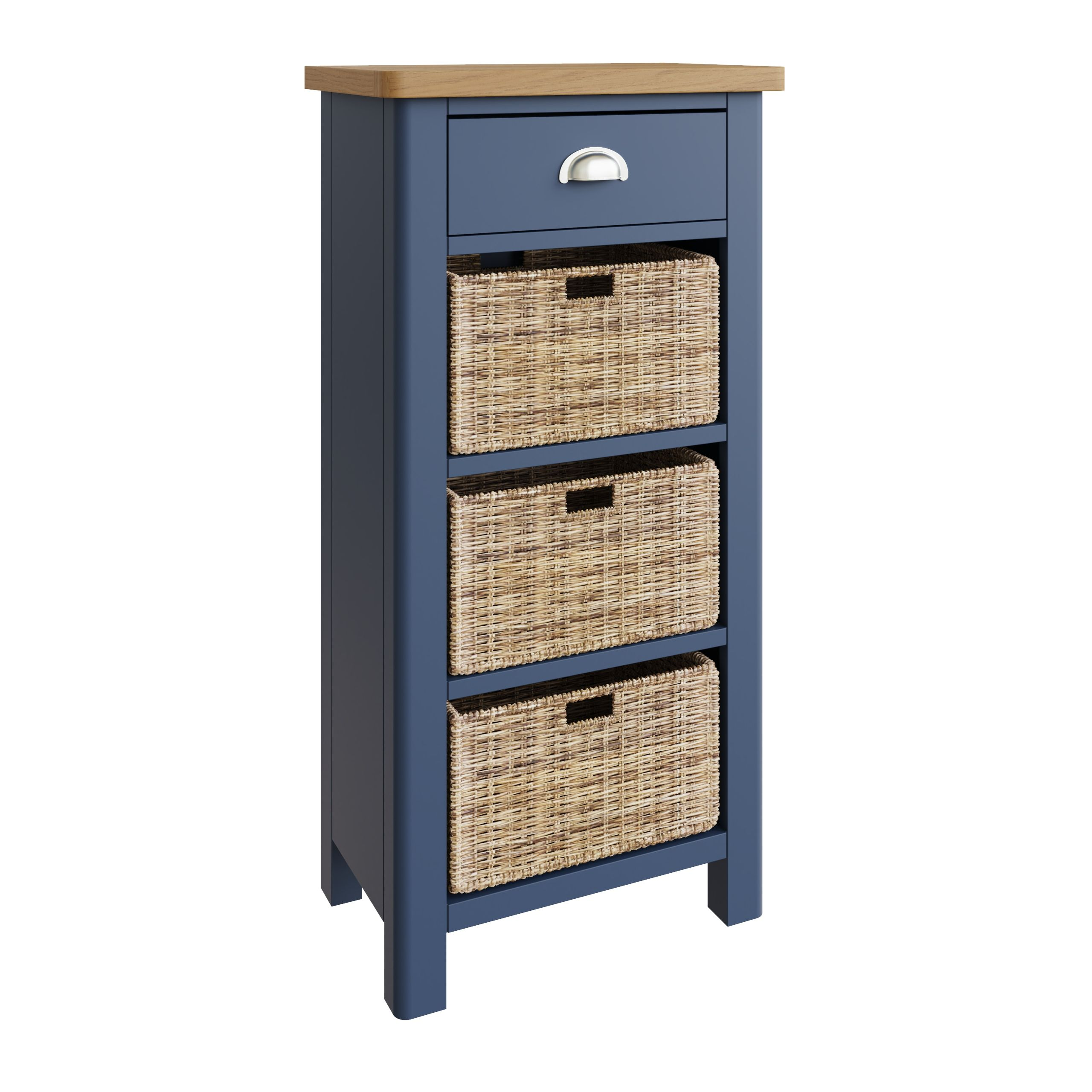 RAYWELL Painted 1 Drawer 3 Basket (Blue)
