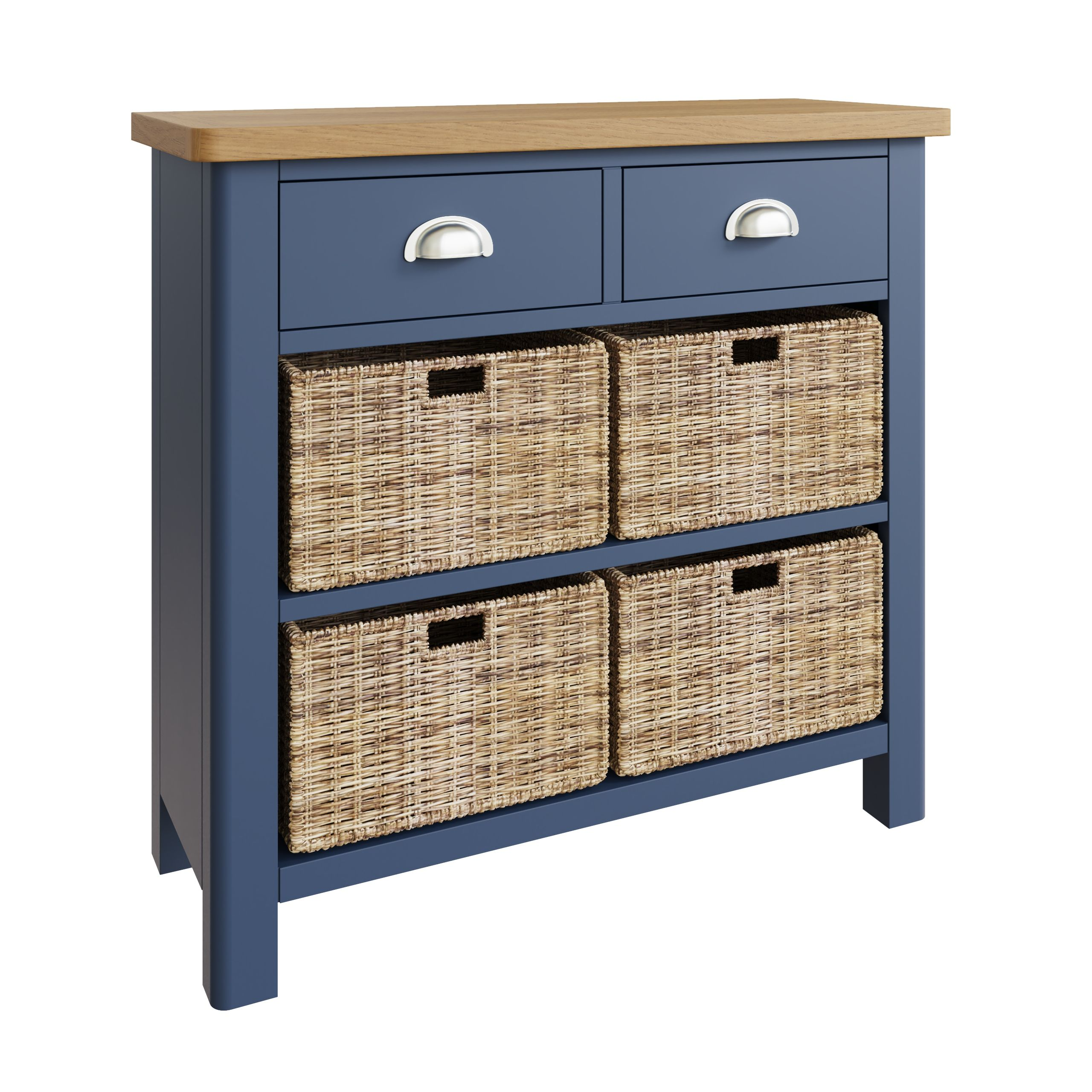 RAYWELL Painted 2 Drawer 4 Basket (Blue)