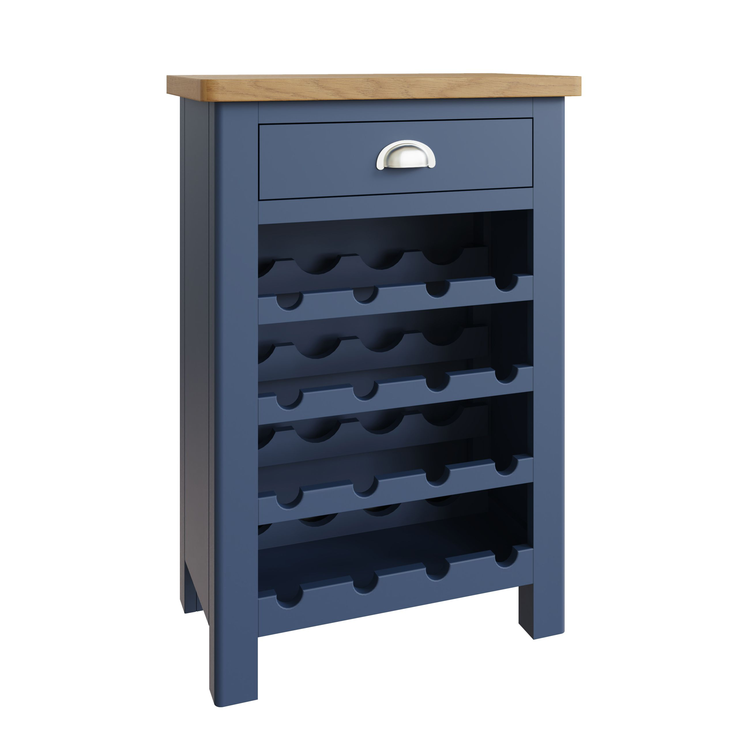 RAYWELL Painted Wine Cabinet (Blue)