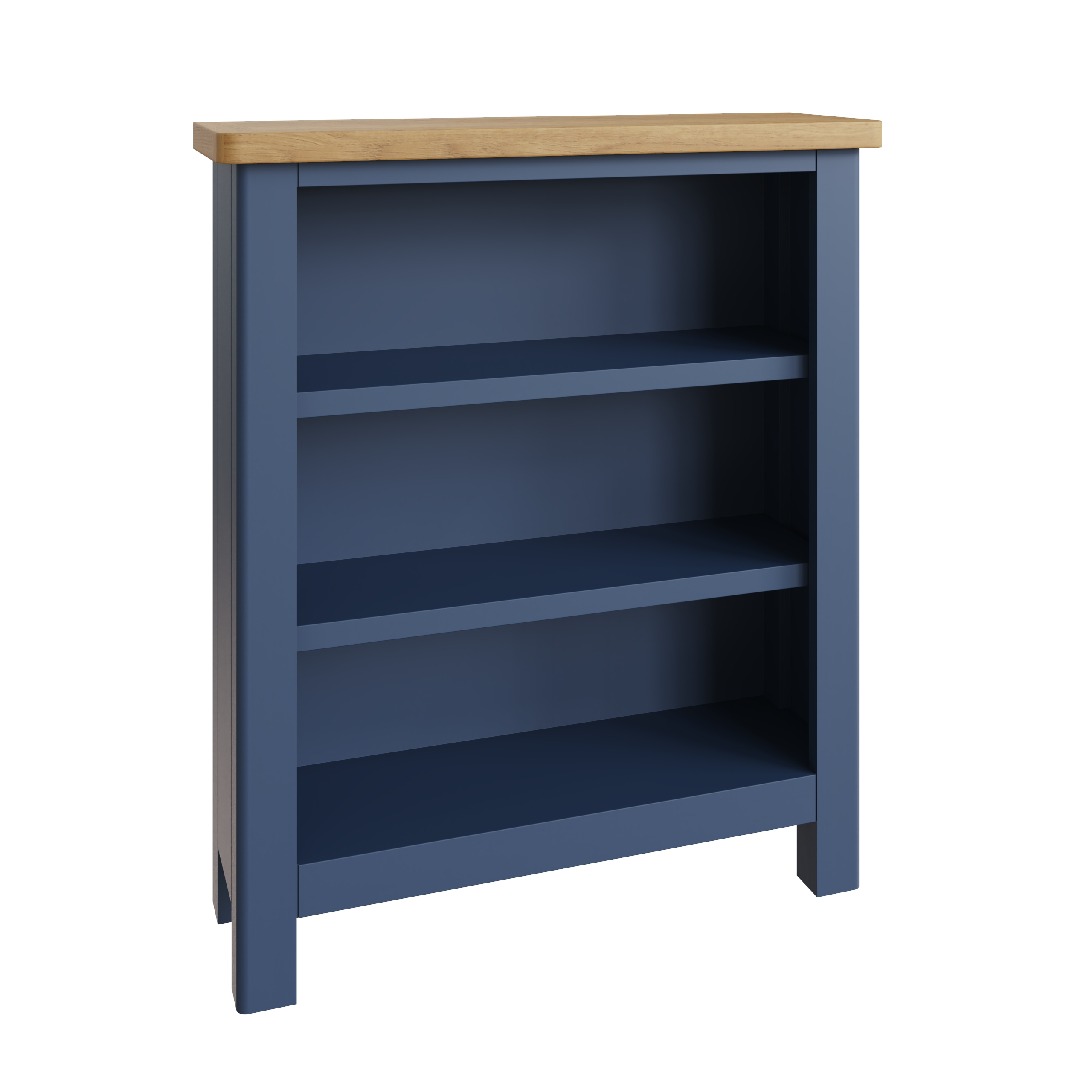 RAYWELL Painted Small Wide Bookcase (Blue)