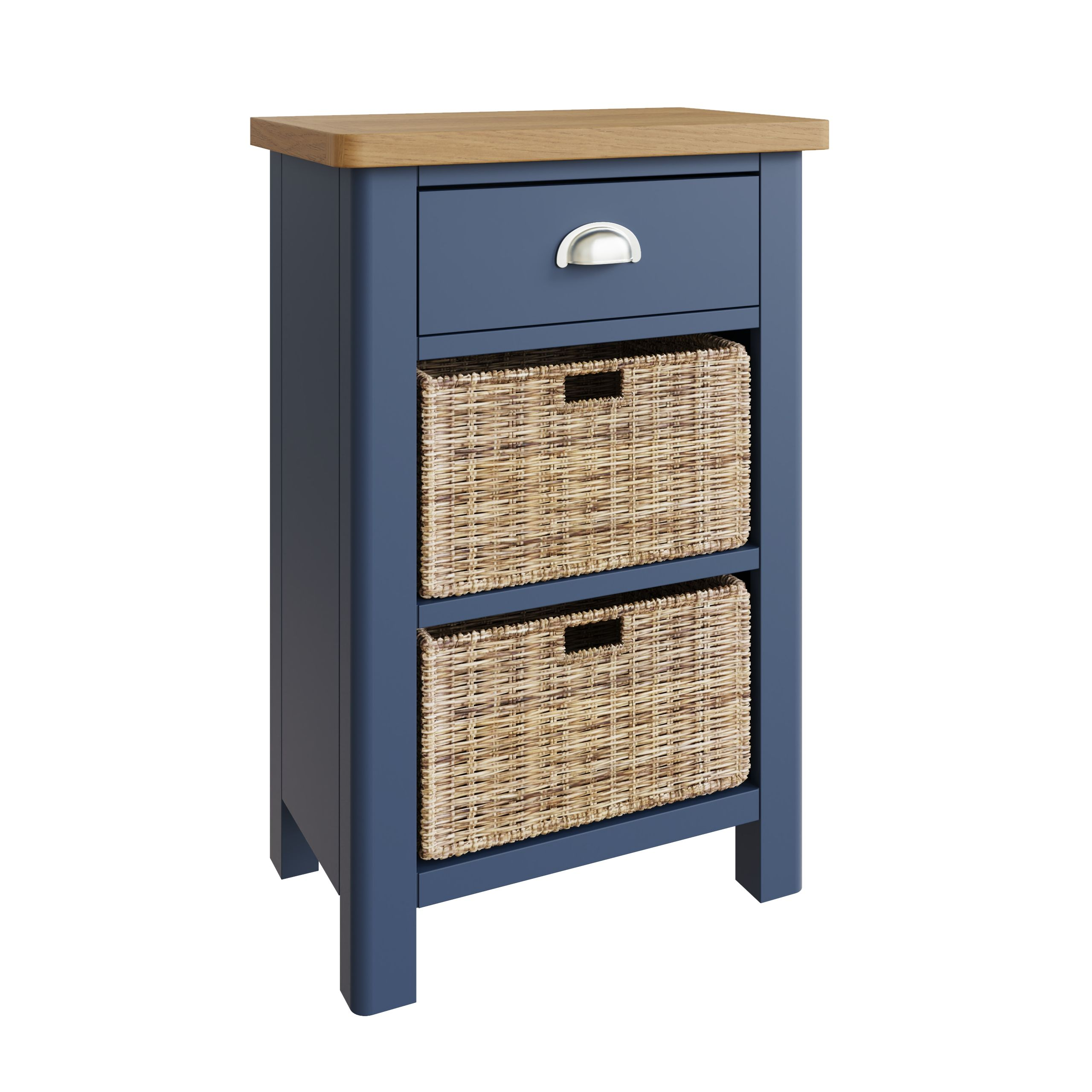 RAYWELL Painted 1 Drawer 2 Basket (BLUE)