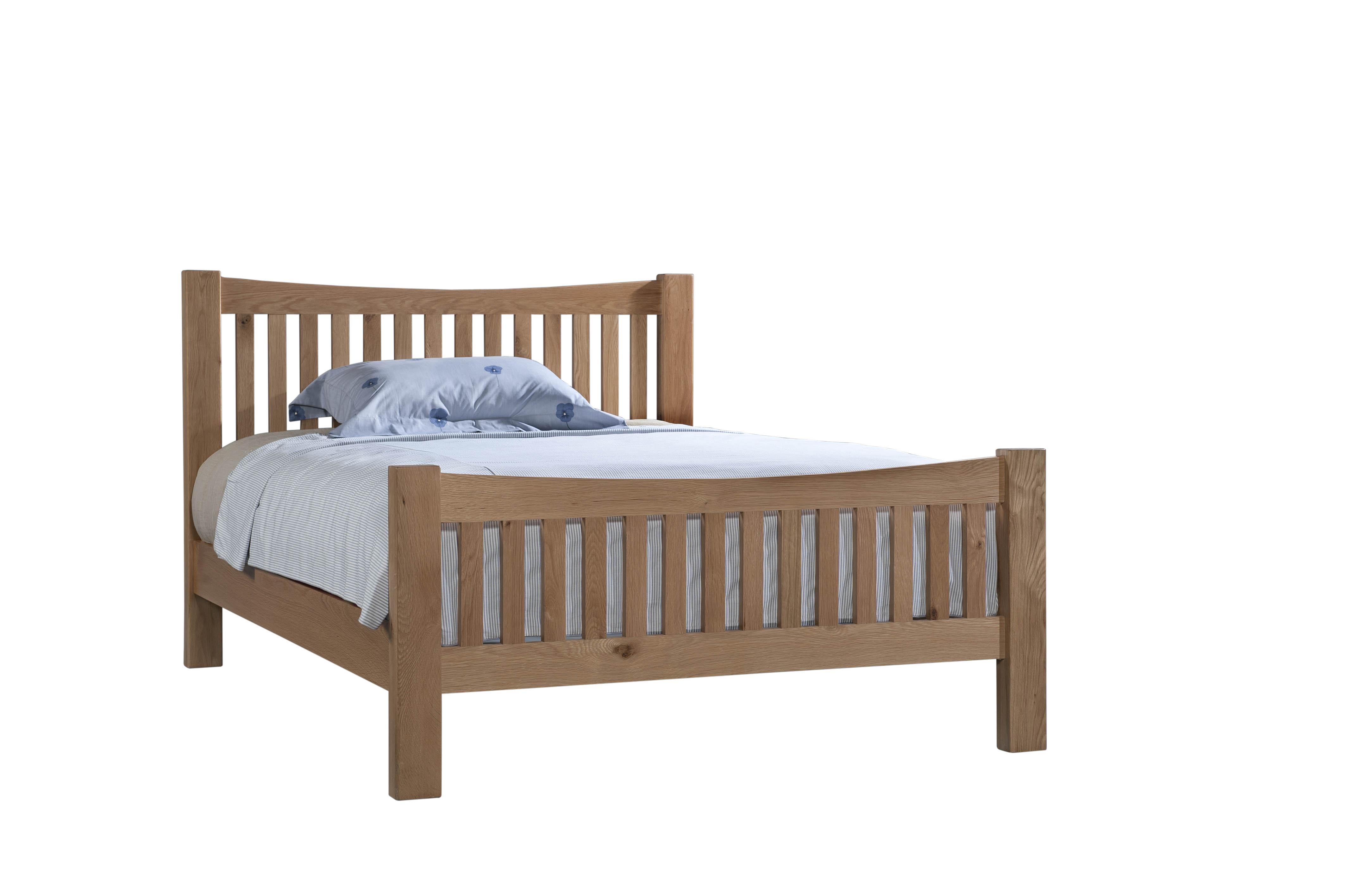 """DORCHESTER OAK 4'6"""" Slatted Bed"""