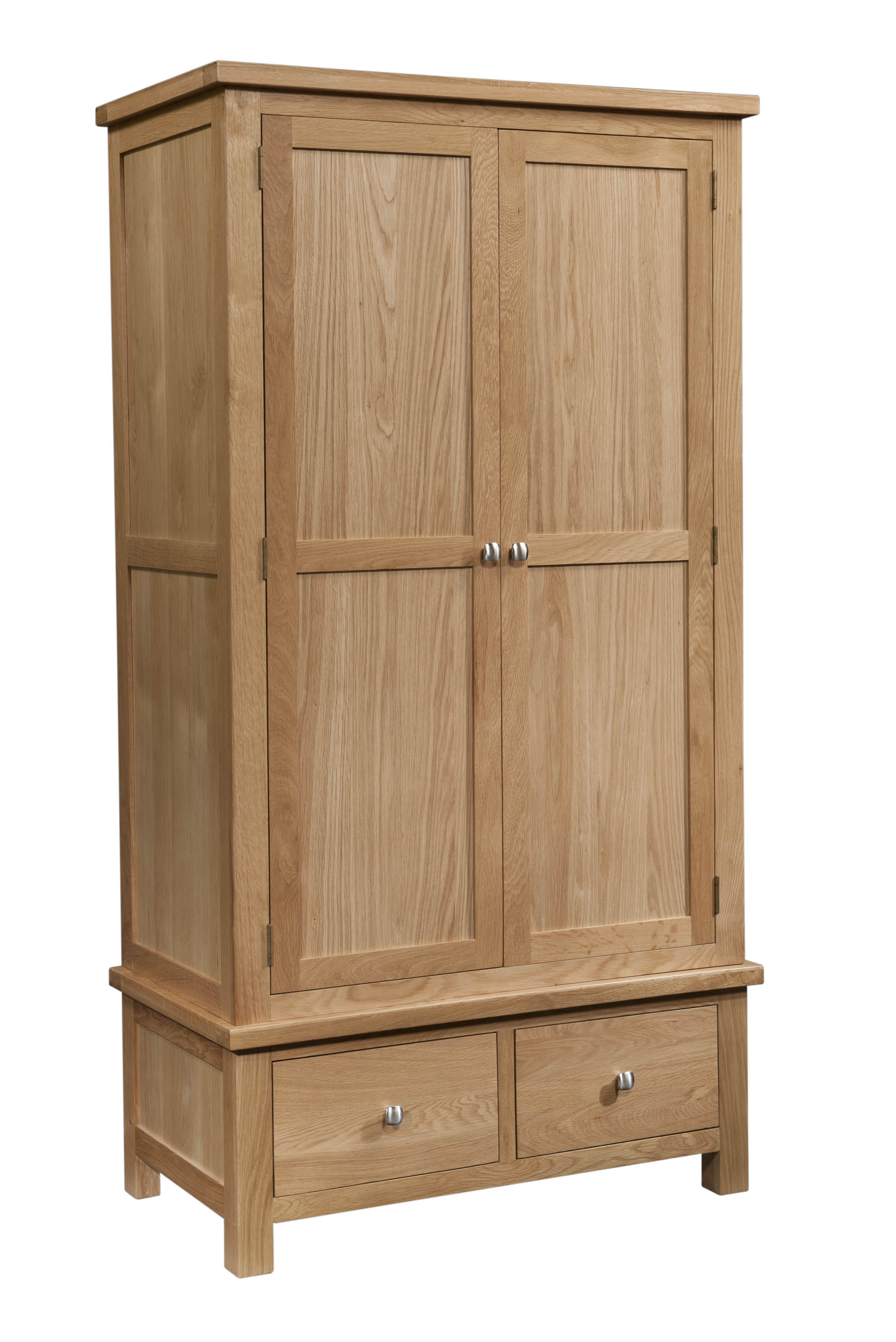 DORCHESTER OAK Double Wardrobe with 2 Drawers