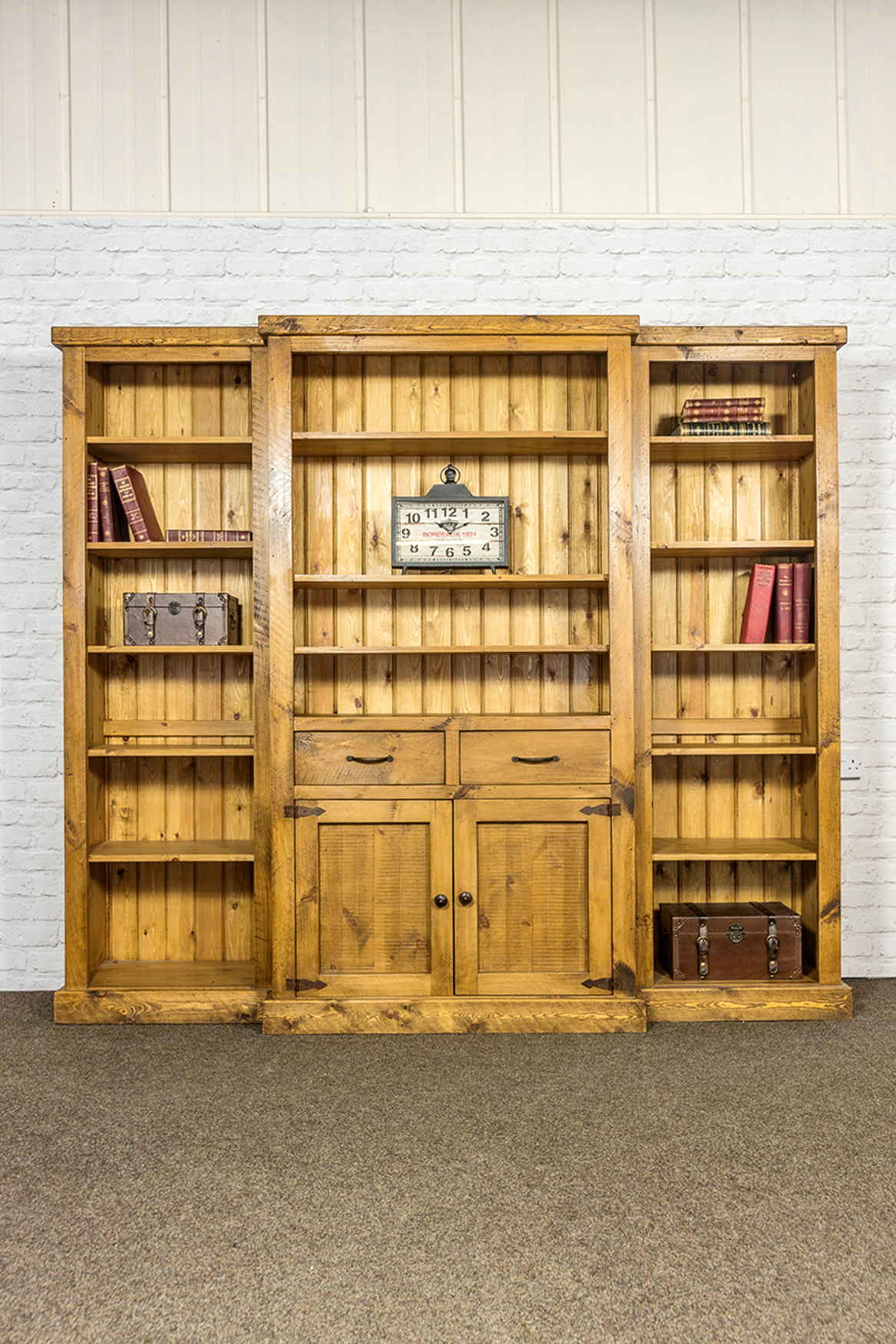 RUSTIC Library Bookcase
