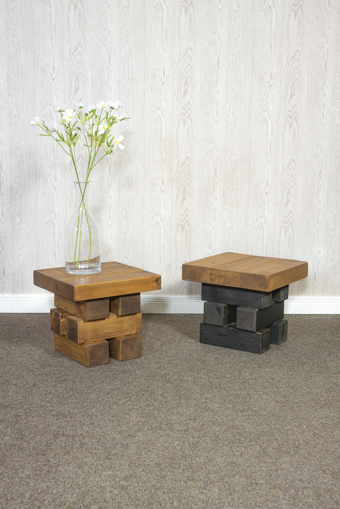 RUSTIC Baby Elephant Coffee Table - 450mm Wide