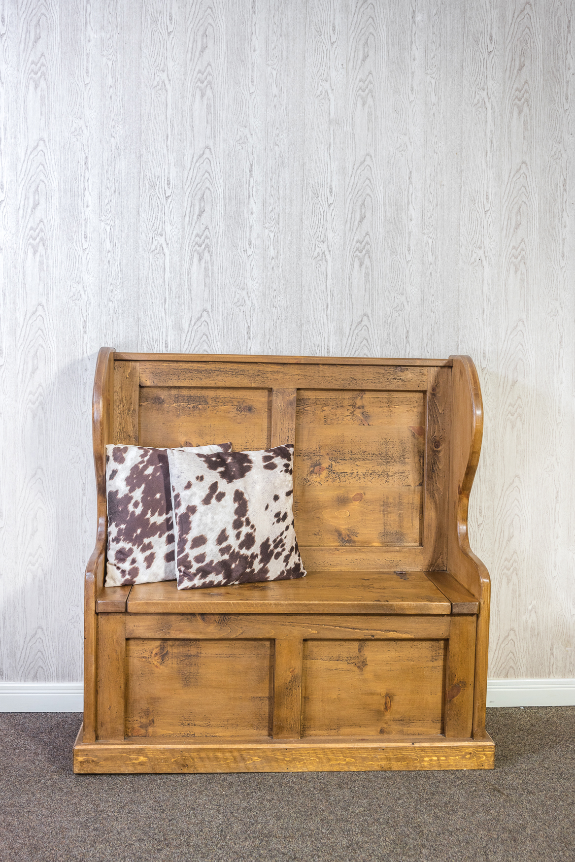 RUSTIC Pew Bench - With Storage