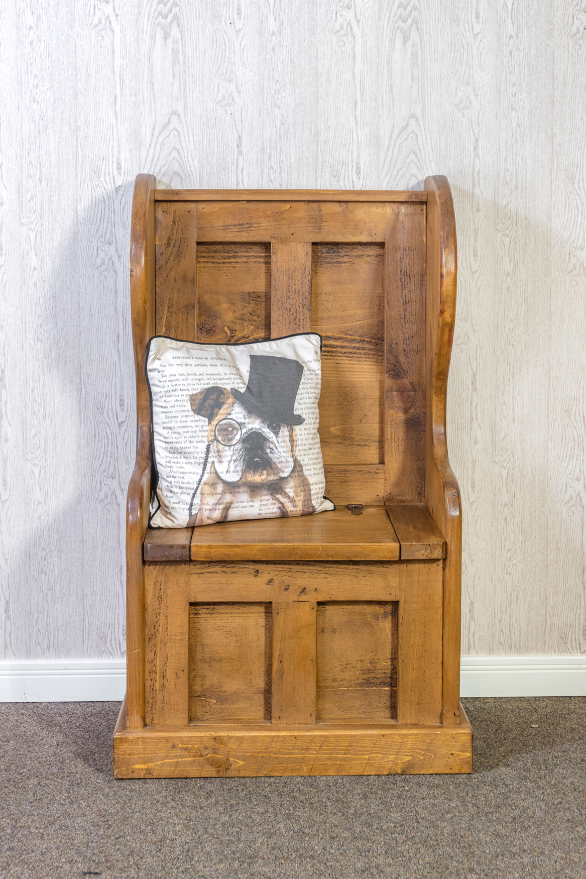 RUSTIC Pew Chair - With Storage