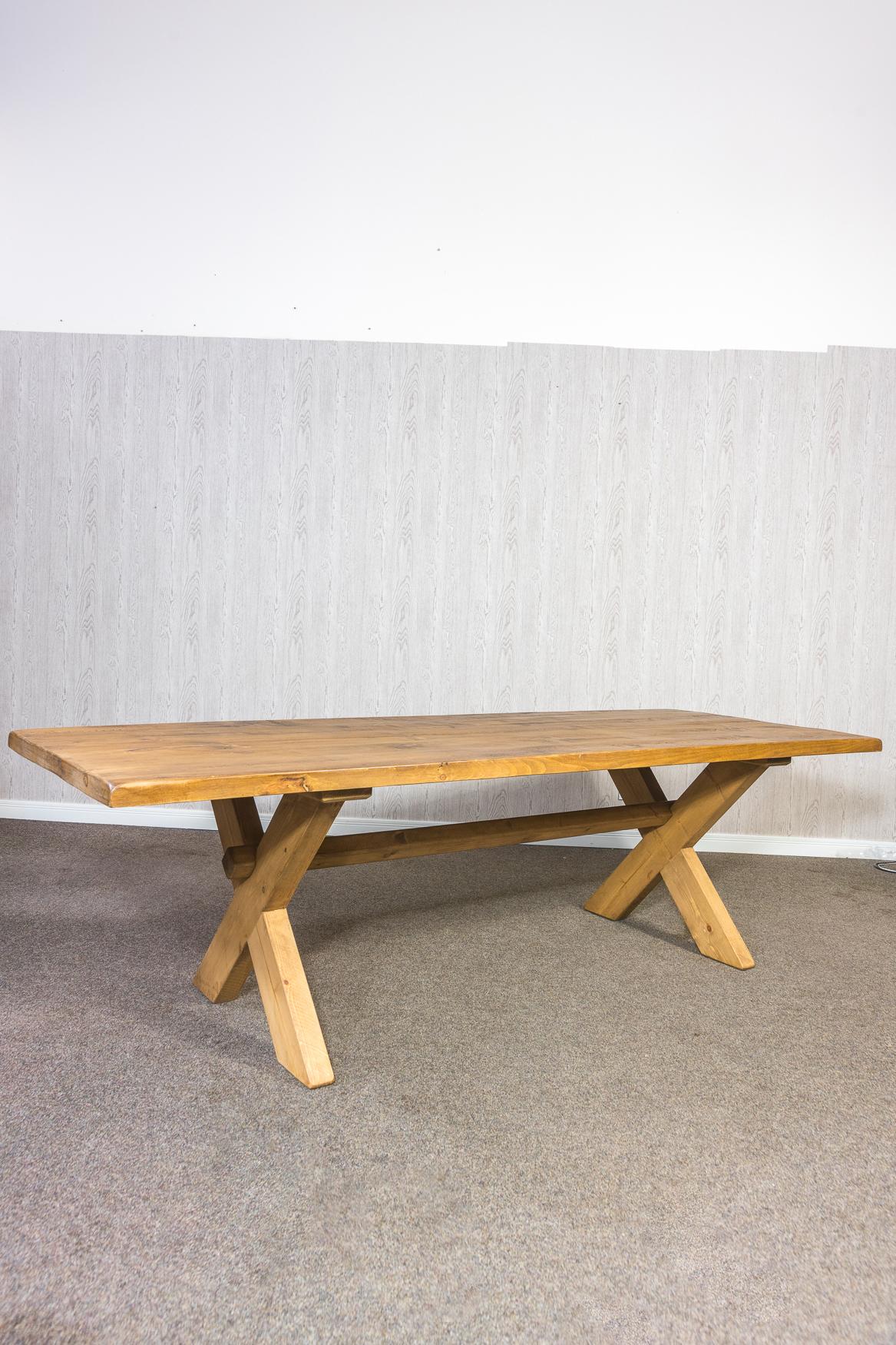 RUSTIC 1800mm X Leg Dining Table