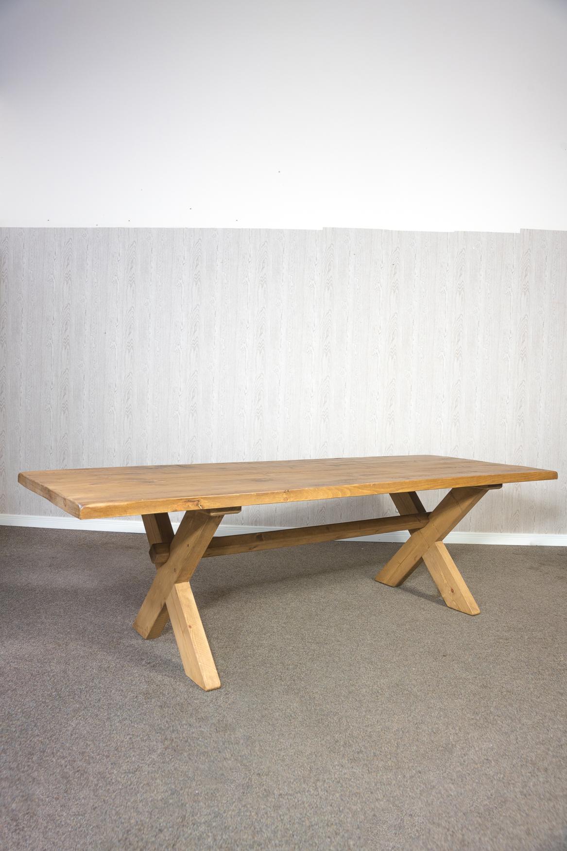 RUSTIC 2700mm X Leg Dining Table
