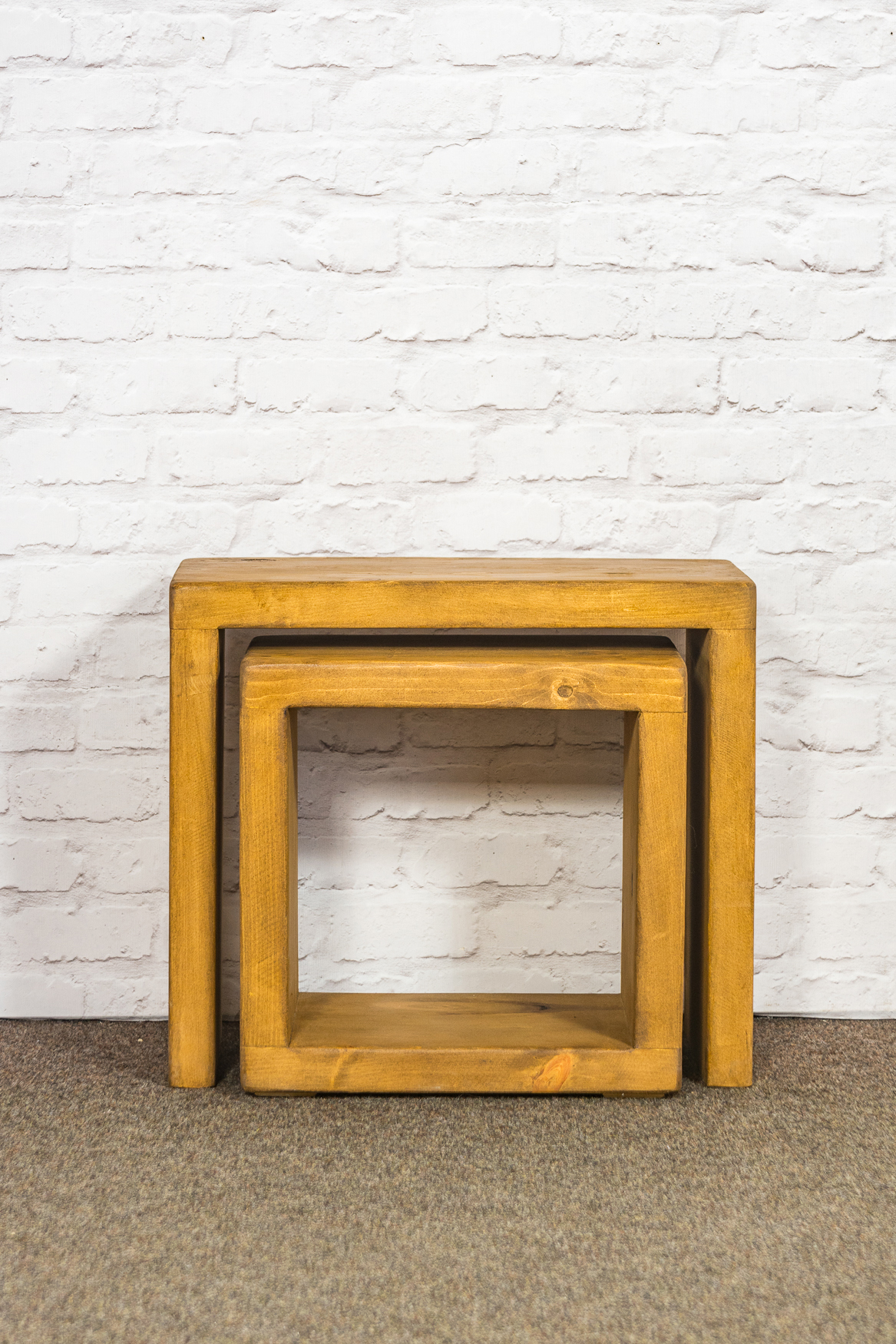 """RUSTIC Cube Coffee Table -  450mm Wide (2""""/3"""" Cube)"""