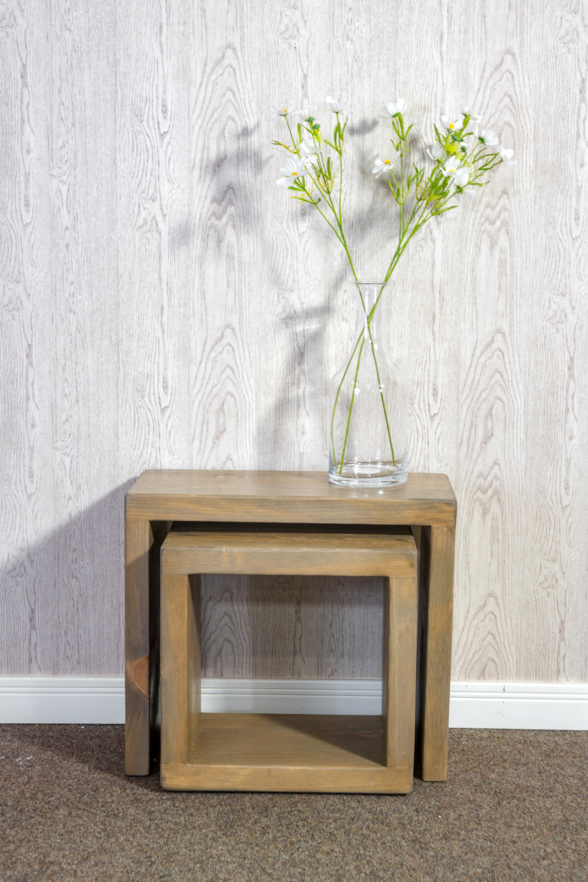 """RUSTIC Cube Coffee Table -  450mm Wide (1""""/ 1/2"""" Cube)"""