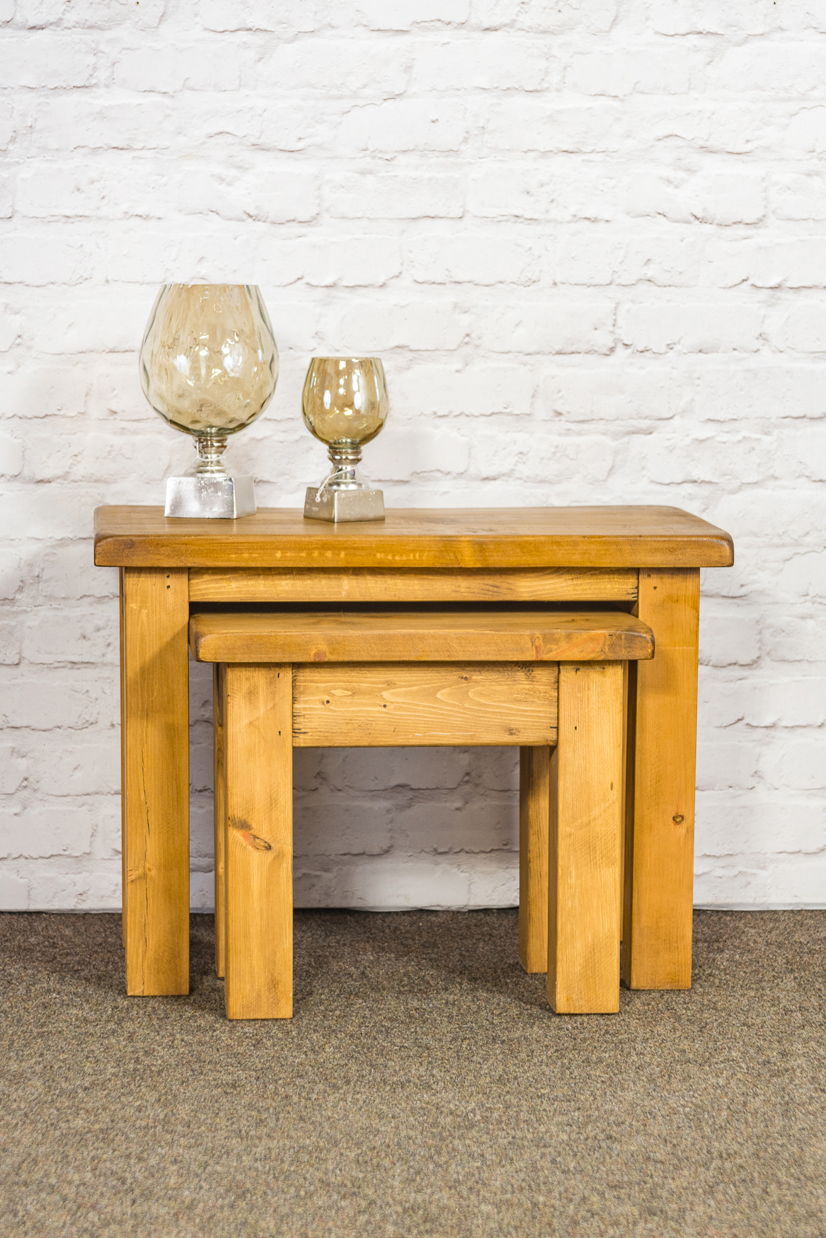 RUSTIC Nest of 2 Coffee Tables