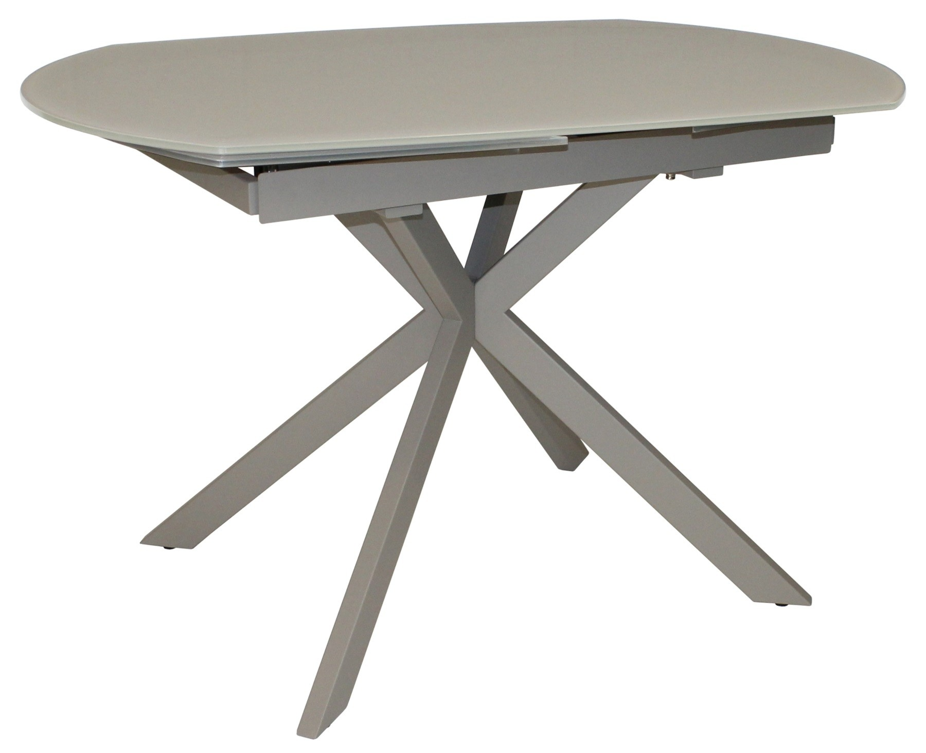 CONTEMPORARY Motion Extending Dining Table - Cappuccino
