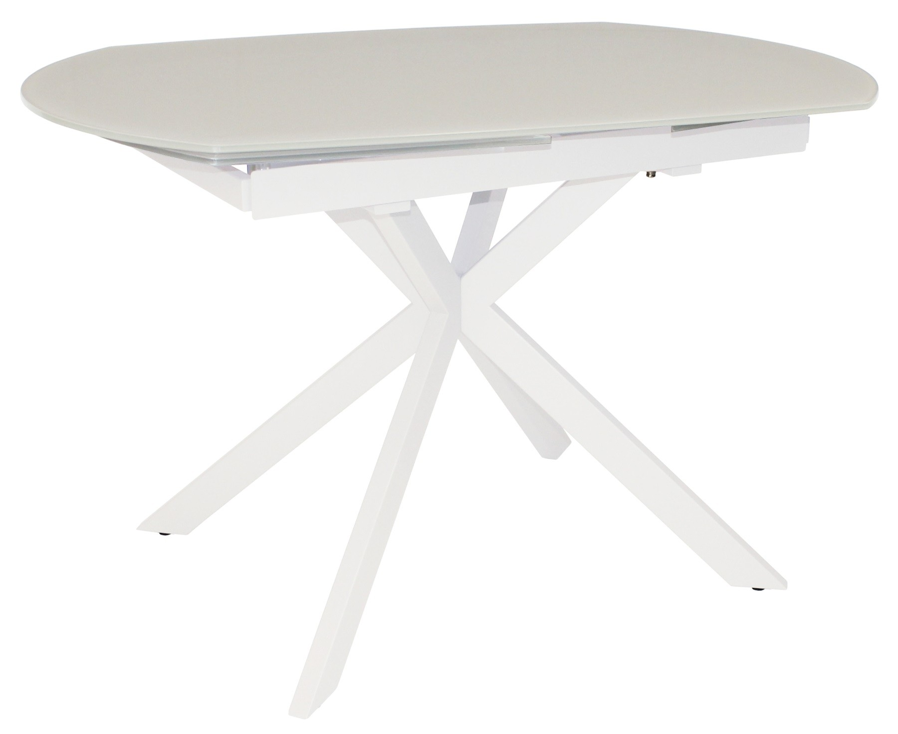 CONTEMPORARY Motion Extending Dining Table - White