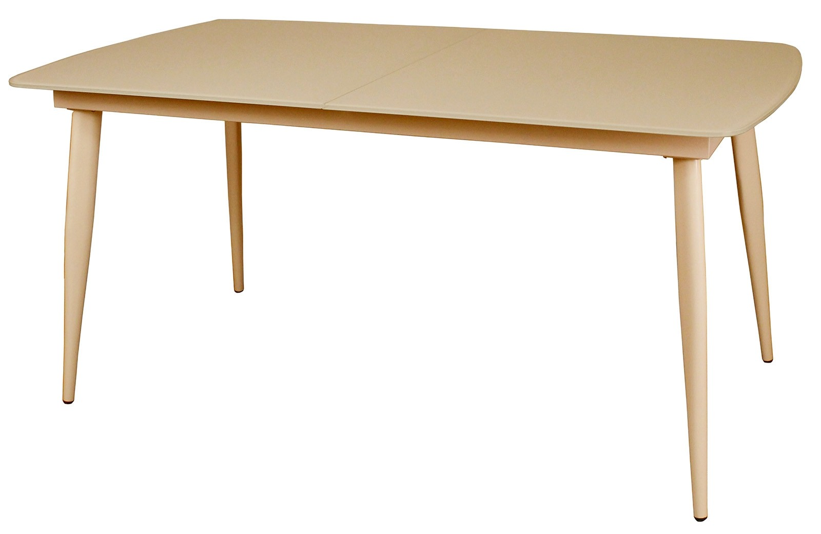 CONTEMPORARY Small Extending Dining Table - Cappuccino