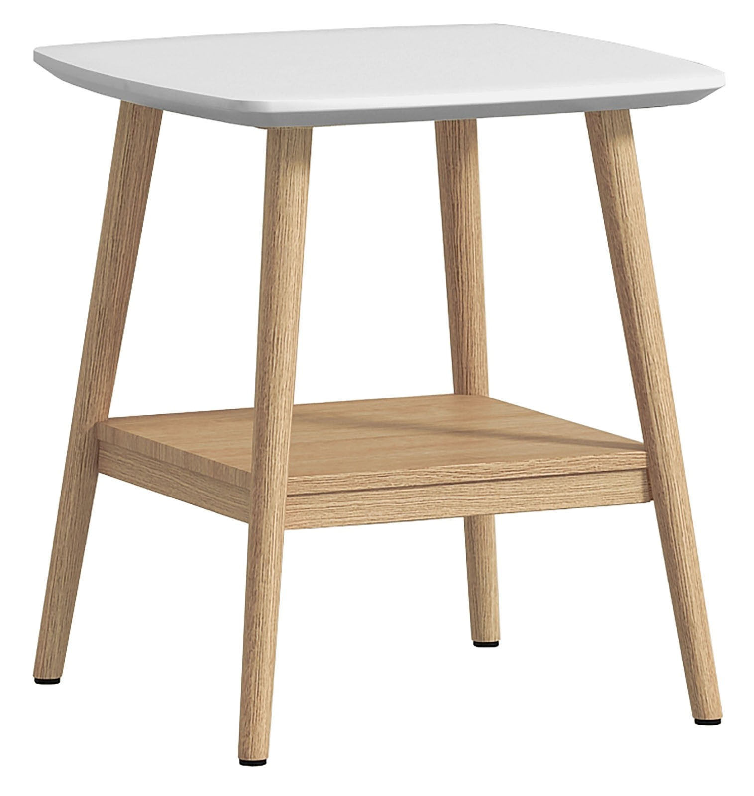 CONTEMPORARY Lamp Table - White