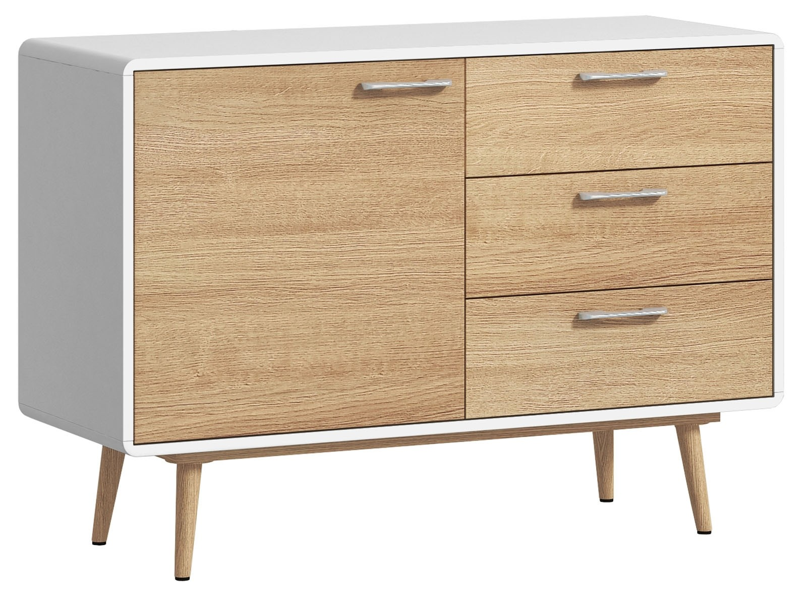 CONTEMPORARY Small Sideboard - White
