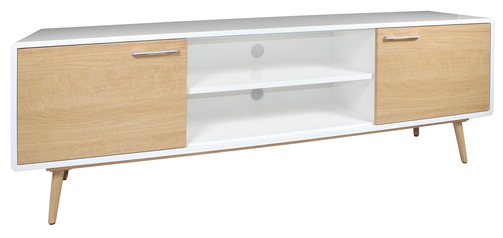 CONTEMPORARY Large TV Cabinet - White