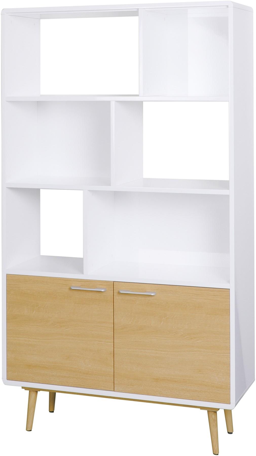 CONTEMPORARY Tall Bookcase - White