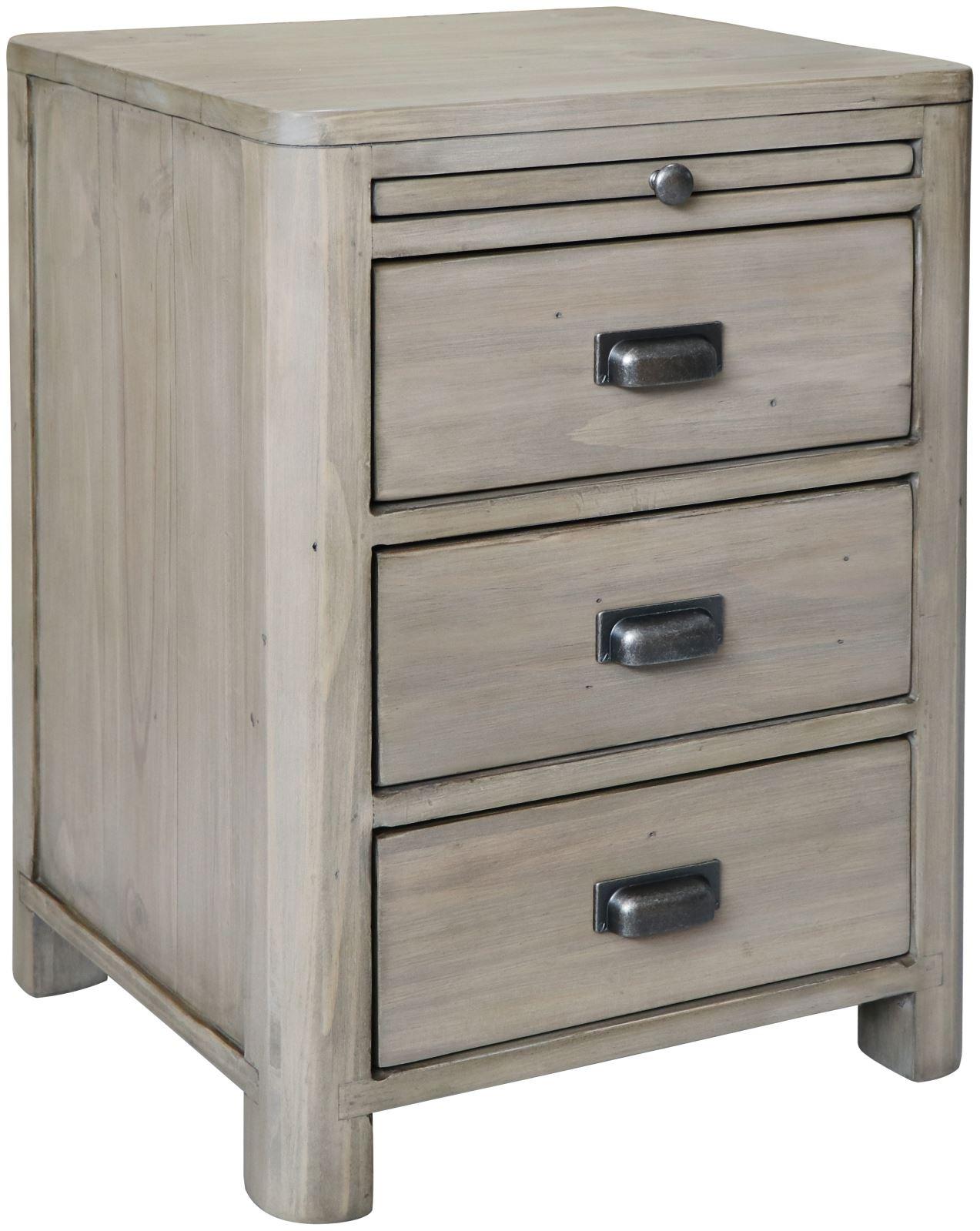 TENDE Reclaimed Pine Bedside Cabinet