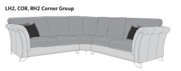 WESTMINSTER Standard Back Corner Sofa - LH2/COR/RH2