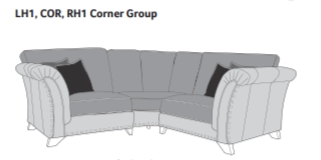 WESTMINSTER Standard Back Corner Sofa - LH1/COR/RH1