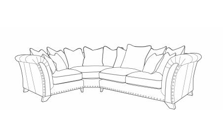 WESTMINSTER Pillow Back Corner Sofa - LH1/COR/RH2
