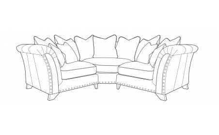 WESTMINSTER Pillow Back Corner Sofa - LH1/COR/RH1