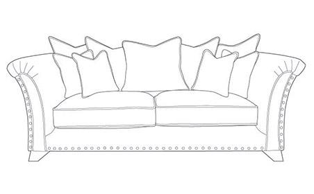 WESTMINSTER Pillow Back 3 Seater Modular Sofa
