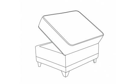 WESTMINSTER Storage Footstool