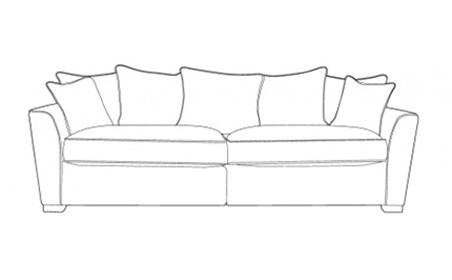 Fantasy 4 Seater Sofa - Pillow Back