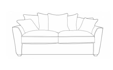 Fantasy 3 Seater Sofa - Pillow Back