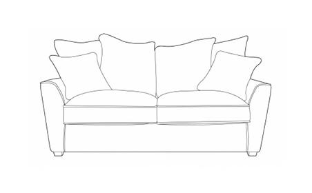 Fantasy 2 Seater Sofa - Pillow Back