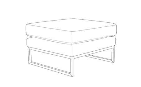 Parker Footstool with Chrome Base
