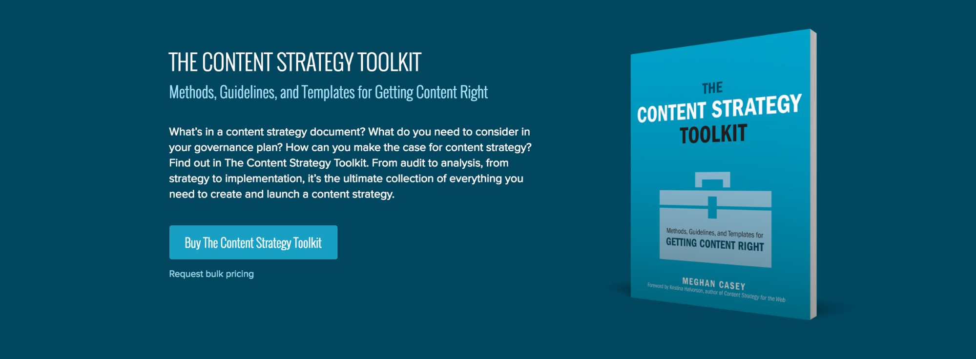 The Content Strategy Toolkit purchase page.