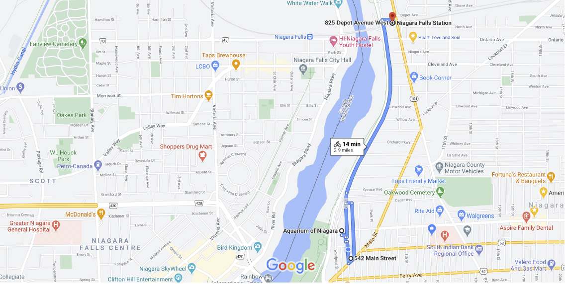Map of Underground Heritage Trail - by bike