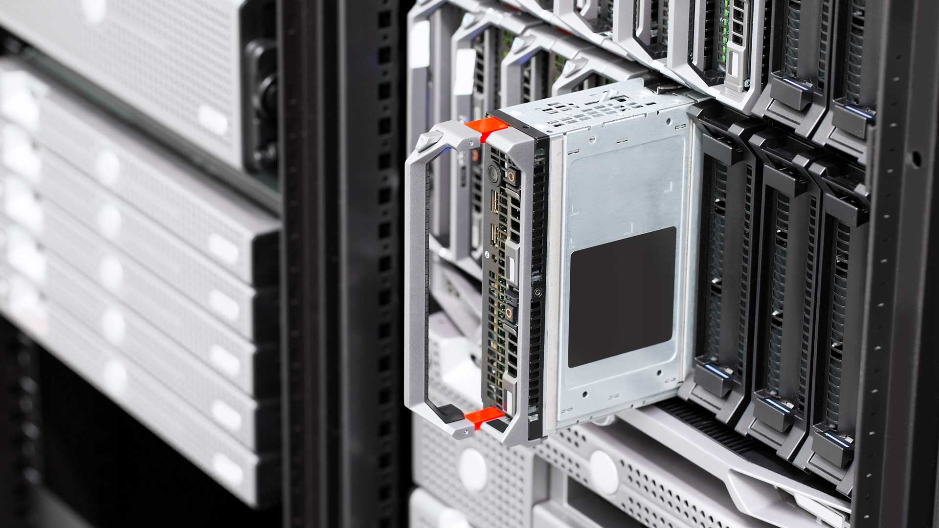 Image of server in a server rack