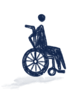 Person in wheelchair illustration